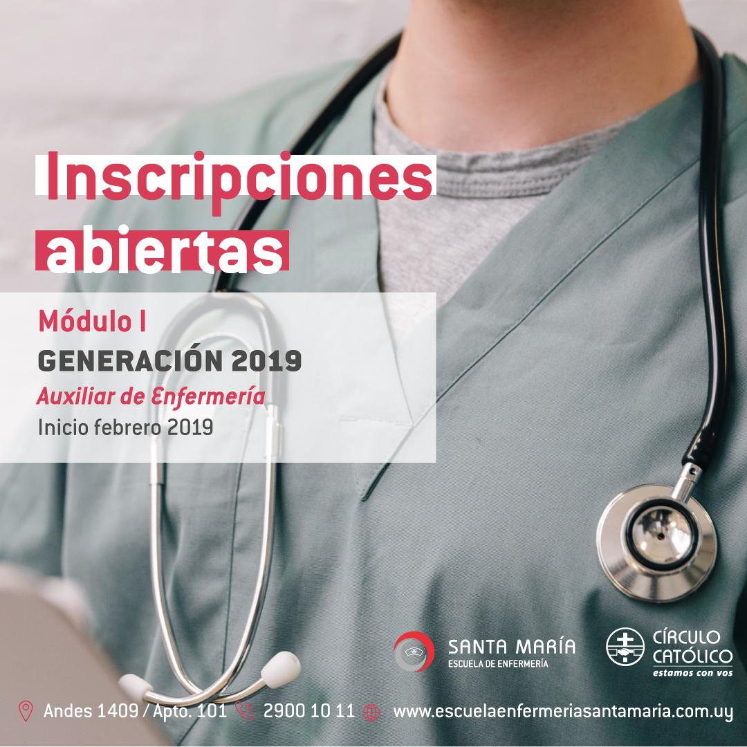 Inscripciones Abiertas Módulo I Auxiliar De Enfermería