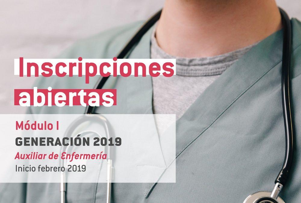 Inscripciones abiertas: Módulo I – Auxiliar de Enfermería