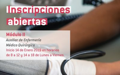 Inscripciones abiertas: Módulo II – Auxiliar de Enfermería & Médico Quirúrgica